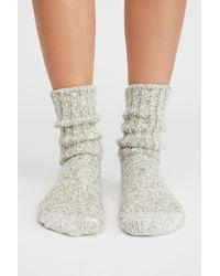 Free People Gray Shoes Socks & Tights Ragg Heritage Crew Sock