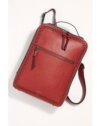 Free People Red Kaya Laptop Backpack