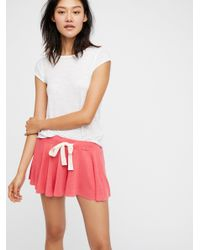 Free People Red Intimates Bottoms Shorts Legs For Days Shortie