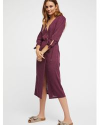 Free People - Purple Clothes Dresses Zappora Dress - Lyst