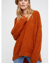 Free People Brown Clothes Sweaters Lofty V-neck Sweater