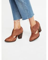 Free People Blue Deep V Ankle Boot
