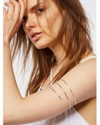 Free People - Brown Metal Upper Armband - Lyst
