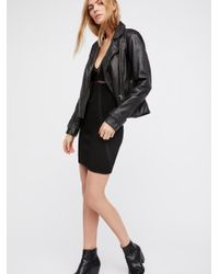 Free People - Black Razzle Dazzle Mini Dress - Lyst
