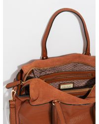 Free People - Brown Louise Suede Satchel - Lyst