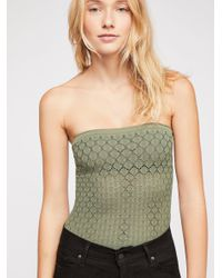 Free People Green Honey Textured Tube By Intimately