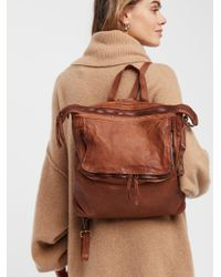 Free People Brown Loved Leather Messenger