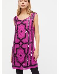 Free People - Purple Speak Easy Mini Dress - Lyst