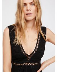 Free People - Black Razzle Dazzle Mini Dress - Lyst