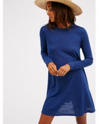 Free People | Blue First Date Dress | Lyst