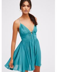 Free People | Blue First Love Fit + Flare | Lyst
