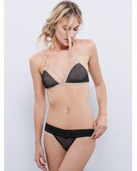 Free People - Black Fish In The Sea Strappy Bra - Lyst