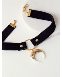 Free People | Multicolor Foiled Horn Leather Choker | Lyst
