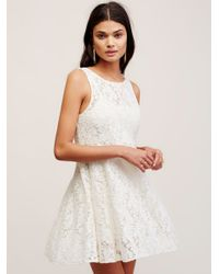 Free People | White Forever And Ever Lace Dress | Lyst