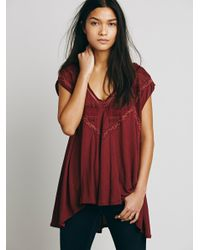 Free People | Red Fp X Abigail Tee | Lyst