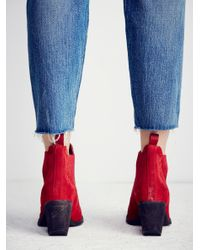 Free People - Red Frontier Stitch Boot - Lyst
