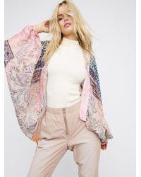 Free People   Pink Gemini Drippy Kimono   Lyst