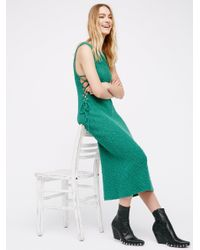 Free People | Green Get It Girl Maxi Dress | Lyst