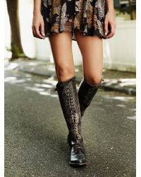 Free People   Black Glastonbury Lace-up Boot   Lyst