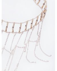 Free People - Metallic Good Vibes Chain Collar - Lyst