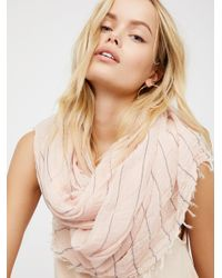 Free People | Natural Great Length Striped Scarf | Lyst