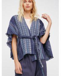Free People | Blue Half Moon Jacquard Kimono | Lyst