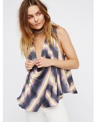 Free People | Blue High Tide Top | Lyst