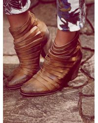 Free People | Brown Hybrid Heel Boot | Lyst