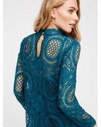 Free People Blue Ibiza Lace Dress