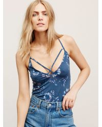 Free People | Blue Keepin' Up Tank | Lyst