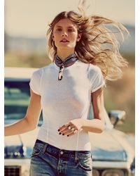 Free People | White Keeping Up Bodysuit | Lyst