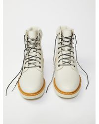 Free People White Kenniston Lace Up Boot