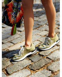 Free People | Green Kick It Lace Up Sneaker | Lyst