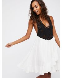 Free People   Black Kissed By The Waves Mini Dress   Lyst