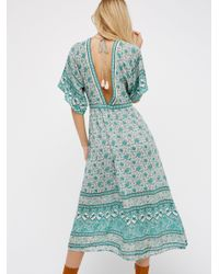 Free People Blue Kombi Folk Dress
