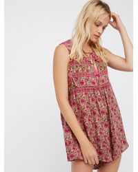 Free People - Red Kombi Romper - Lyst