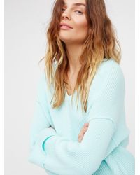 Free People | Blue La Brea V-neck Sweater | Lyst