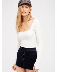 Free People | White Lala Layering Top | Lyst