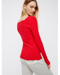Free People | Red Lala Layering Top | Lyst