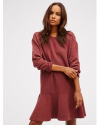 Free People | Red Last Minute Pullover | Lyst