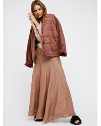 Free People | Brown Latter To Love Skirt | Lyst