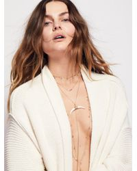 Free People | Multicolor Lex Horn Layered Necklace | Lyst