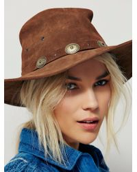 Free People Brown Lily West Hat