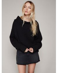 Free People | Black Livvy Sweater | Lyst