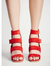 Free People Red Lixer Heel