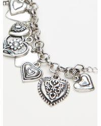 Free People - Black Love Lockdown Charm Bracelet - Lyst