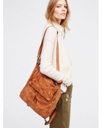 Free People | Multicolor Loved Leather Messenger | Lyst