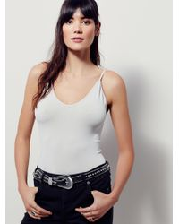 Free People - Gray Low Scoop Neck Cami - Lyst