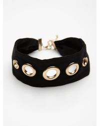 Free People - Black Magic Mystery Embellished Suede Choker - Lyst