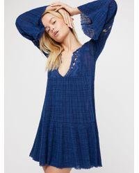 Free People | Blue Marishka Tiny Tent Mini Dress | Lyst